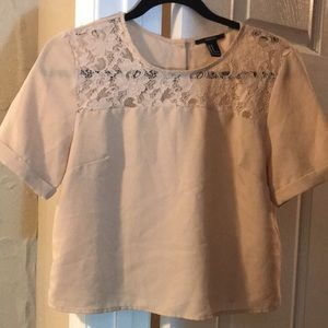 F21 Chiffon Shirt with Buttoned Back (size M)